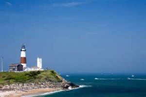 The Montauk lighthouse at the end of Long Island.  It would look nothing like this now as we are hunkering down for a blizzard